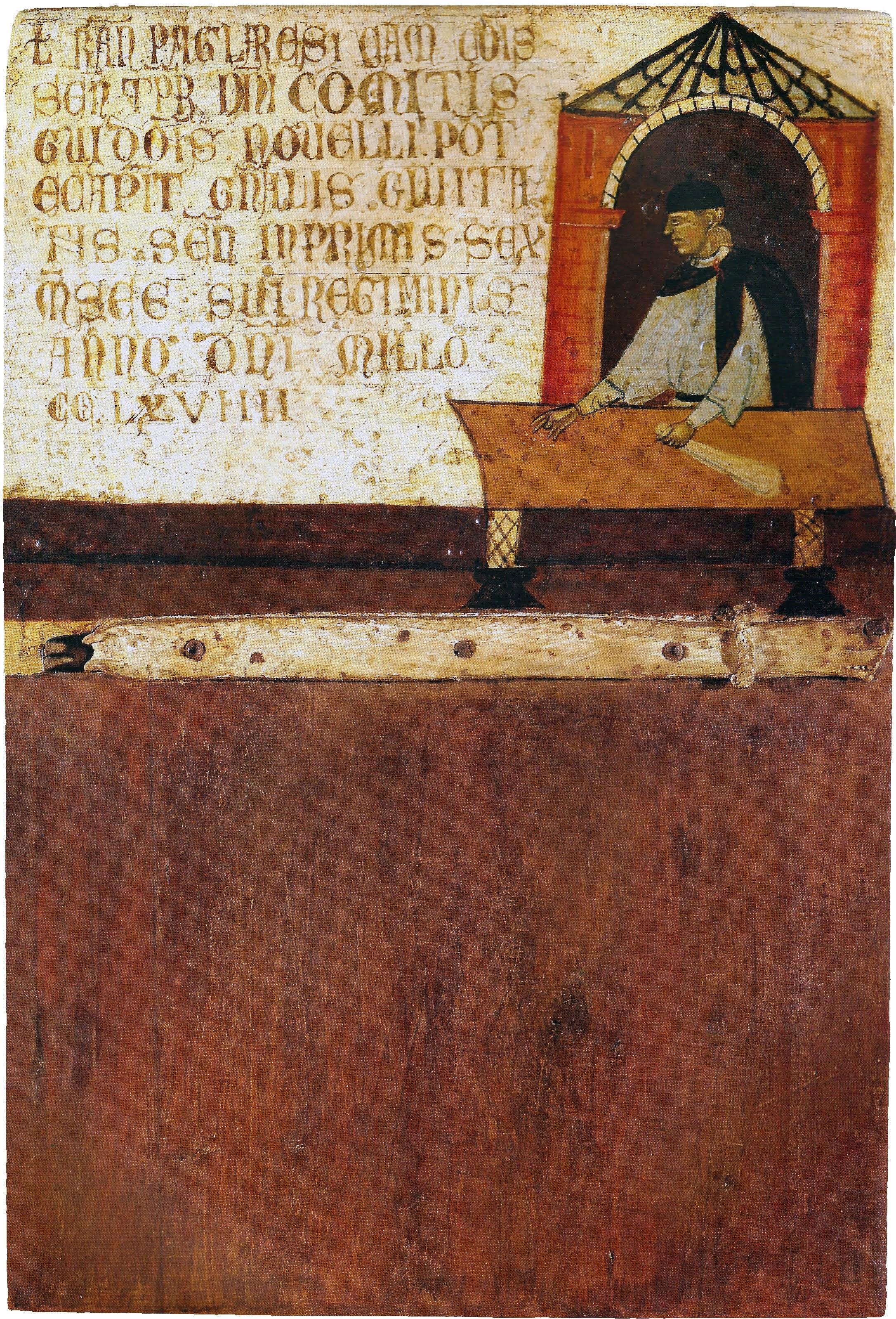 Dietisalvi di Speme, bBiccherna, il camerlengo Ranieri Pagliaresi (1270), Siena, Archivio di Stato