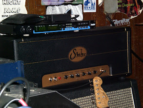 Photo: Landau's ML-100 Suhr head with a Lexicon MPX-1 Processor on top.