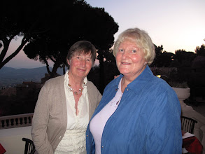 Photo: Ronnie Shorten and Vivienne Vincent on the balcony of Le Grand Hotel, Bormes les Mimosas