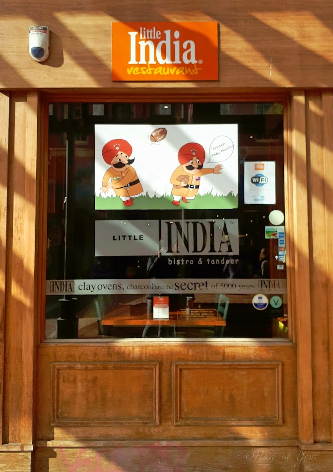 Little India logo and storefront