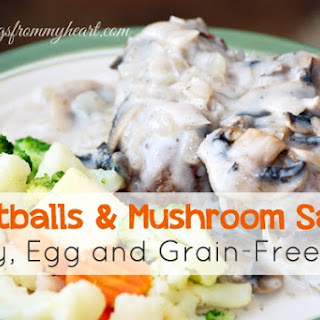 Allergy-Free Meatballs with DF Cream Sauce (grain, egg, & dairy-free)