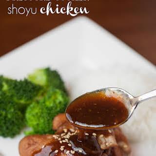 Pressure Cooker Shoyu Chicken.