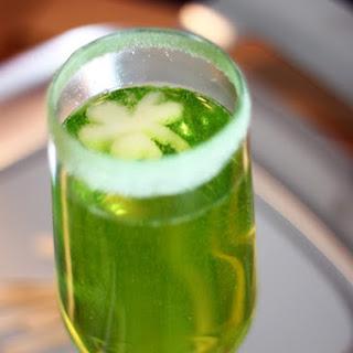Sparkling Shamrock Champagne Cocktail.