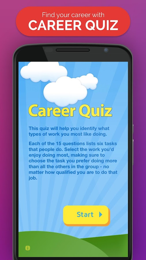 Career Quiz- screenshot
