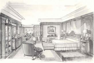 Photo: Entwurfssizze bedroom, Gimenez