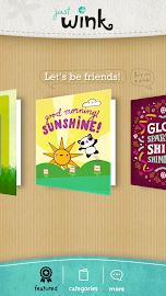 justWink Greeting Cards Screenshot 1