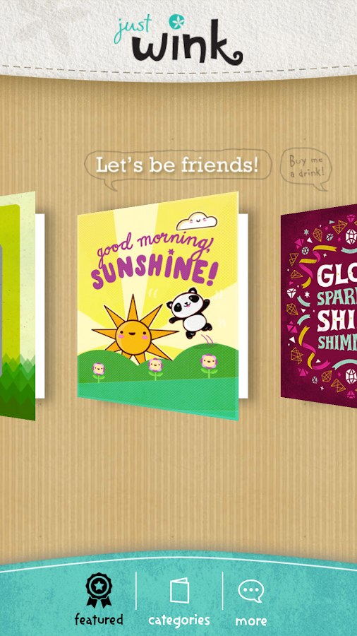 justWink Greeting Cards- screenshot