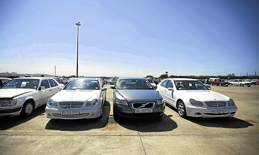 A SAPS pound for stolen cars that have been recovered. Picture: TEBOGO LETSIE