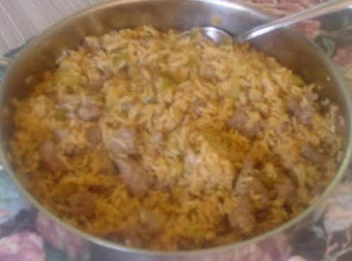 """Lad's Dirty Rice """"This was delicious. Everyone loved it! The mushrooms add such..."""