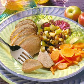 Roasted Caribbean Pork Tenderloin with Apple-Fennel Chutney Recipe