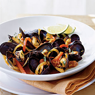 Mussels with Red Pepper and Chorizo.