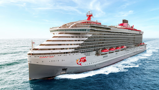 Scarlet-Lady-at-sea.jpg - The 2,770-passenger Scarlet Lady is the groundbreaking  ship with an upscale vibe from Virgin Voyages.