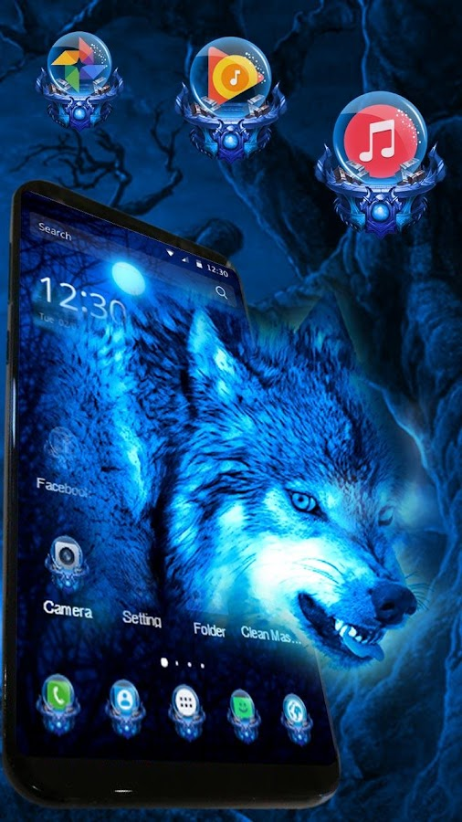 3d Eis Wolf Thema Android Apps Download