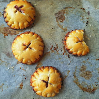 Cinnamon Scented Cherry Hand Pies with Cream Cheese.