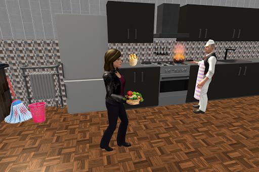 Virtual Waitress : Hotel Manager Simulator apktram screenshots 5