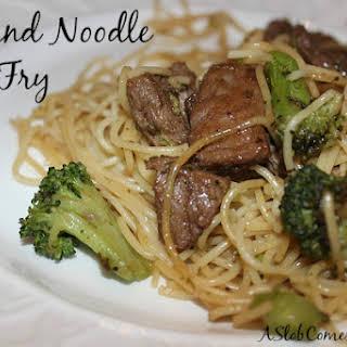 Beef Noodle Stir Fry.