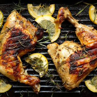 Marinated Grilled Chicken Quarters