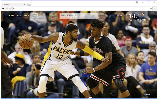 NBA Paul George Wallpapers New Tab Themes