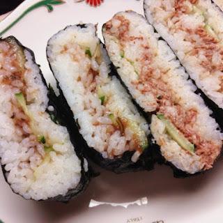Corned beef Onigirazu (Rice Balls) with Mayonnaise