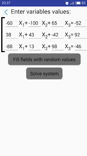 System of equations Solver screenshot 2