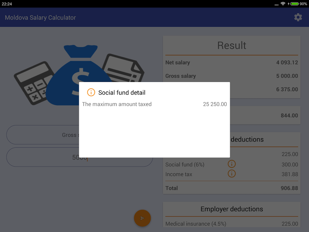 wages calculator md