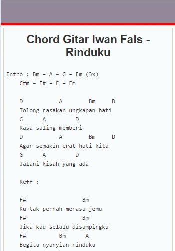 Download Kunci Gitar Lirik Iwan Fals Google Play Softwares
