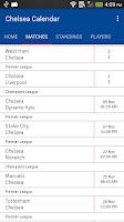 Screenshot of Chelsea Calendar