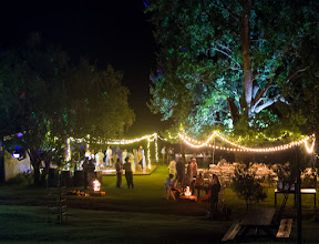 Photo: Open air reception under the Oak Tree