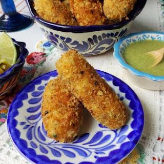 Shrimp Croquettes with Cilantro.