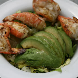 Grilled Shrimp and Avocado Salad with Asian Vinaigrette.