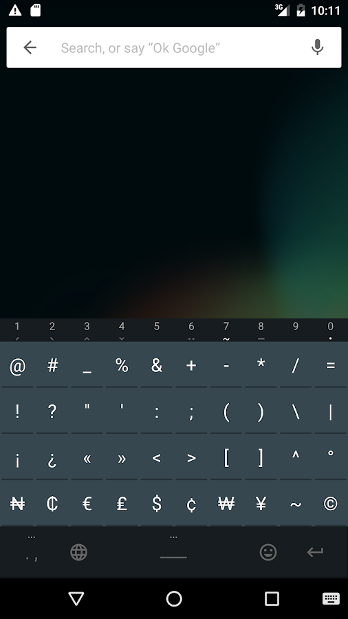 African Keyboard- screenshot