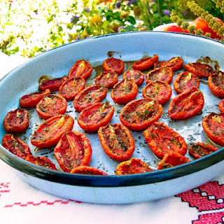 Oven Roasted Roma Tomatoes.