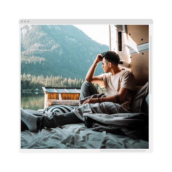 Mountainside Window - Instagram Post Template