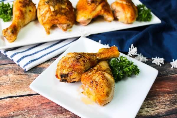 Best Buttermilk Baked Chicken On A Plate.
