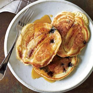 Blueberry-Banana Pancakes.