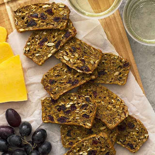 Pumpkin Cranberry Flaxseed Crisps