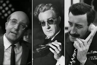 """Photo: Peter Sellers e seus três papéis em """"Dr. Fantástico""""."""