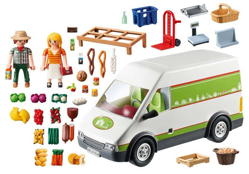 Contenido real de Playmobil® 70134 Mercado Móvil