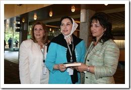 Maricela Nuñez y Benazir Bhutto