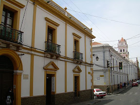 Straße im Zentrum von Sucre