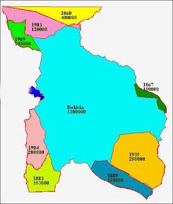 Gebietsverluste Boliviens nach http://www.sjsu.edu/faculty/watkins/bolivia.htm