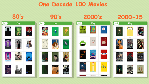 One Decade 100 Movies