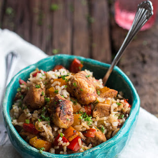 30 Minute Healthy Cajun Chicken and Rice..