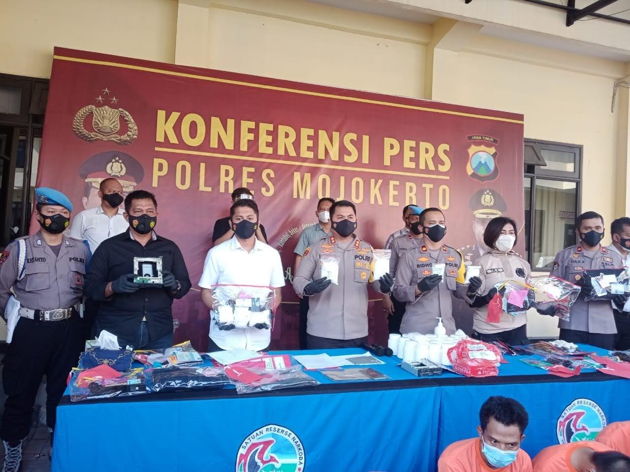 Budak 1/2 Kg Sabu Dan 22 ribu Butir Pil Koplo Berhasil Diringkus Polisi Mojokerto