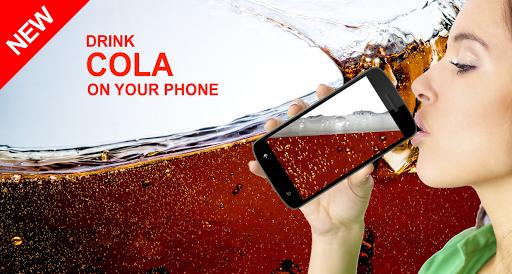 お使いの携帯電話にコーラを飲みます