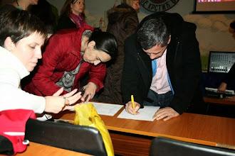 Photo: Потписивање
