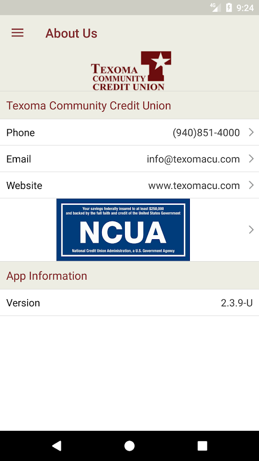 TCCU Mobile- screenshot