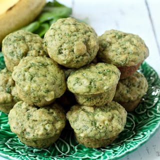 Spinach-banana Mini Muffins.