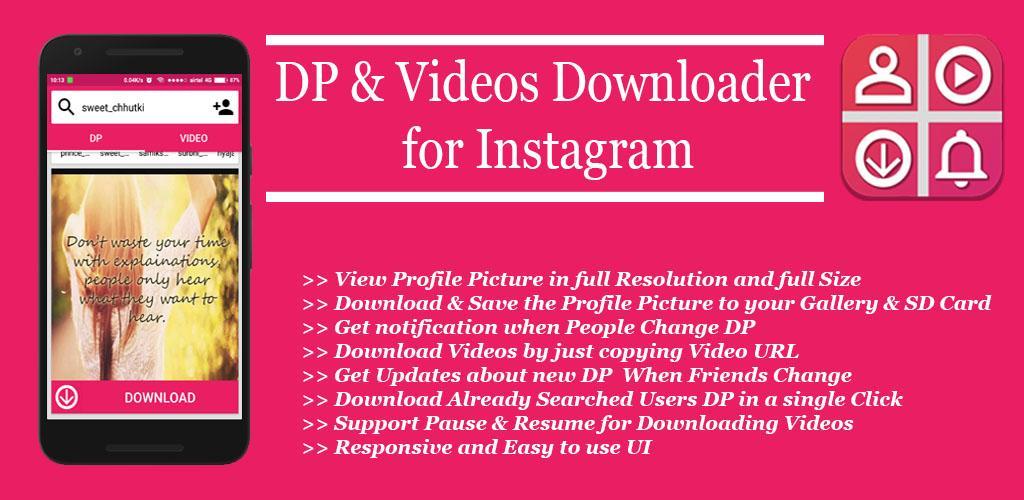 DP & Videos Downloader for Instagram 35 Apk Download - com