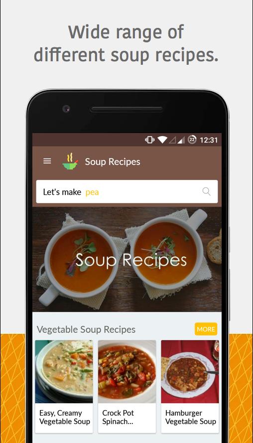 Tasty easy healthy yummy soup recipes cookbook android for Easy tasty soup recipes